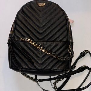 Mini Faux leather Backpack Purse